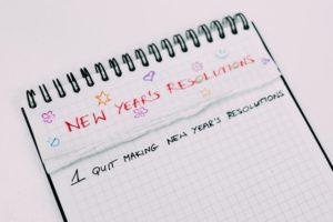 New Years Resolution list